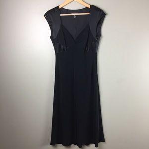Jones New York LBD Cap sleeve black midi length